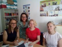 las profesoras finlandesas en el Departamento de Inglés